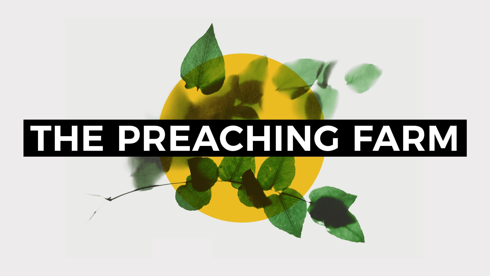 The Preaching Farm: Benjamin Shanks / 1 Samuel 16:6-13